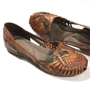 NATURALIZER Woven Multicolor Leather Moccasin
